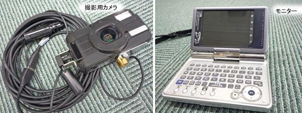 撮影用カメラとモニター