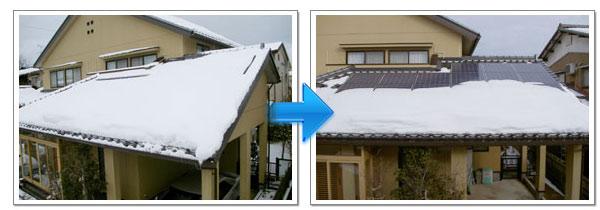 落雪対策の様子 2日目